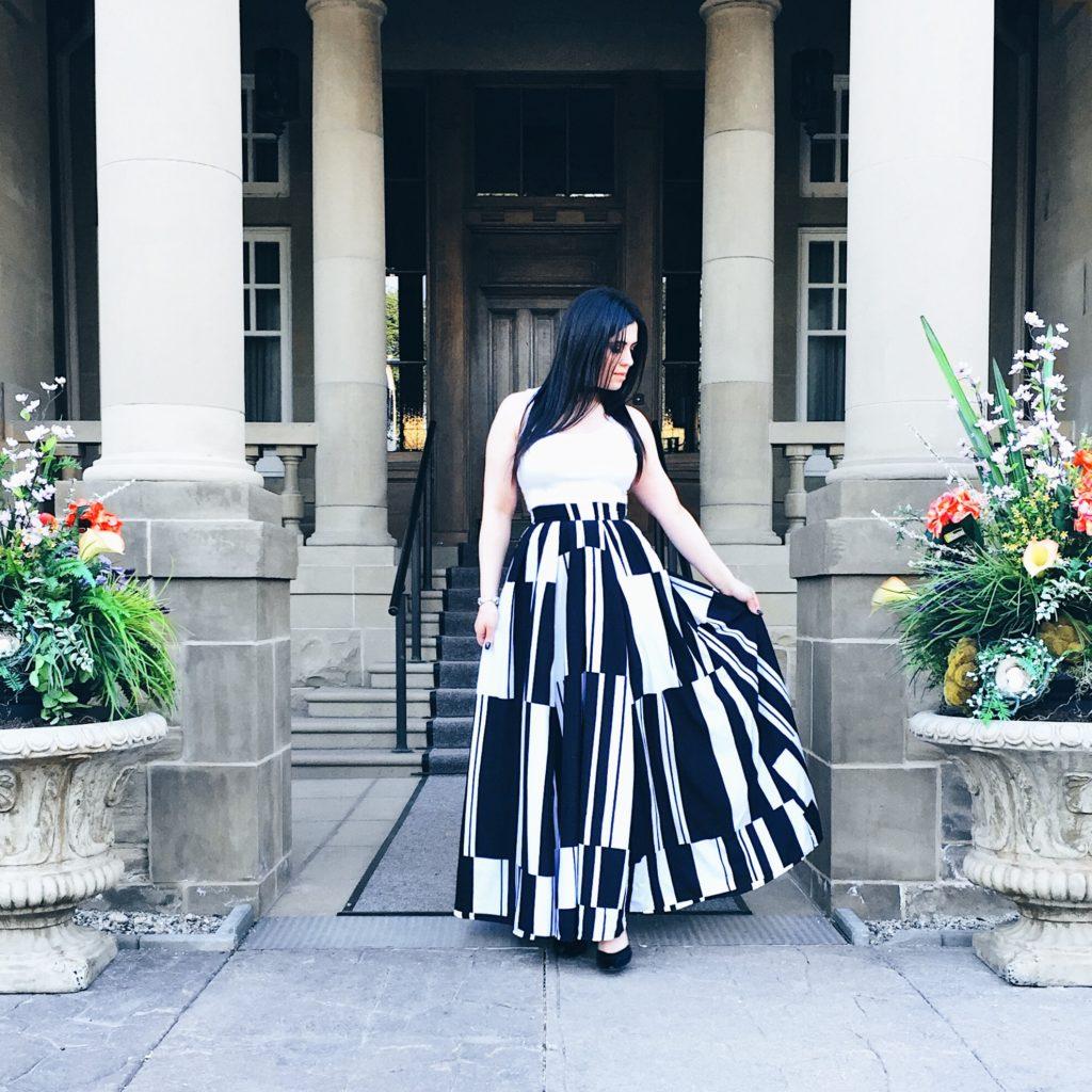 Black and white skirt 1